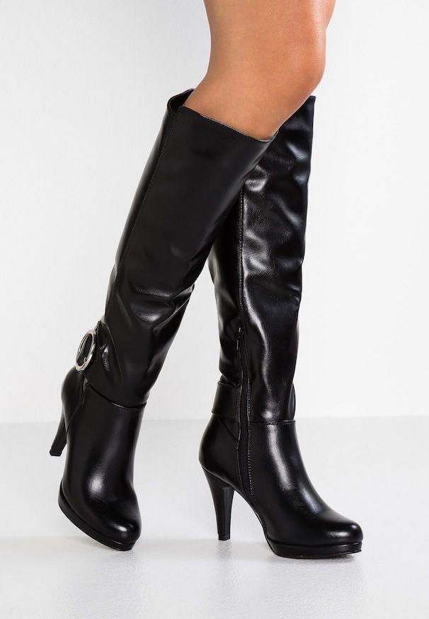 Laarzen met hoge hak – black