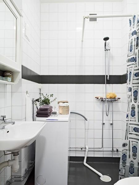 pisos suecos decoración loundry room lavadora secadora decoración lavadora cuarto de baño lavadora estilo nórdico diseño de interiores nórdi...