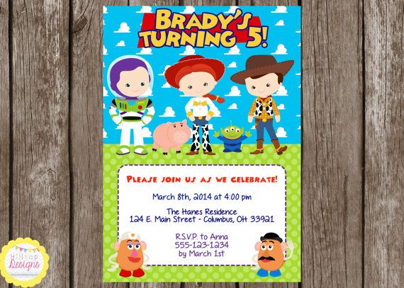 PRINTABLE Toy Story Inspired Birthday Invitation by HilltopCustomDesigns, $8.00