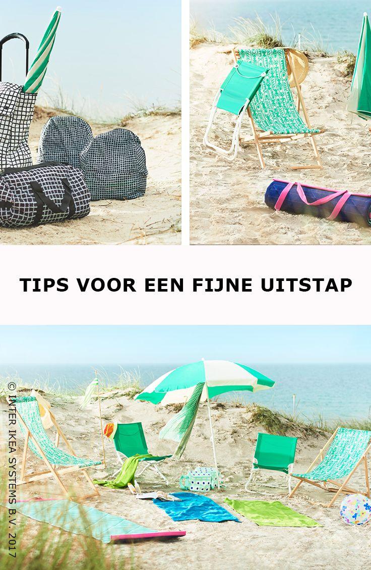 Een dagje zee gepland? Maak het jezelf makkelijk met tassen in verschillende formaten en opklapbaar buitenmeubilair zoals strandstoelen. Ontdek onze ideeën. MYSINGSÖ Strandstoel, 24,99/st. #IKEABE #IKEAidee  Planning a  trip to the seaside? Go easy on yourself by using bags in different formats and foldable outdoor furniture like beach chairs. Discover our ideas. MYSINGSÖ Beach chair, 24,99/pce. #IKEABE #IKEAidea