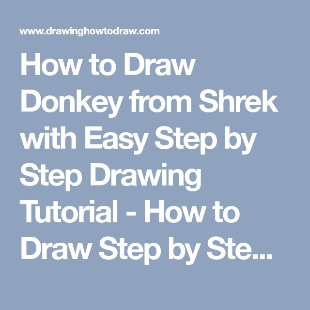How to Draw Donkey from Shrek with Easy Step by Step Drawing Tutorial - How to Draw Step by Step Drawing Tutorials
