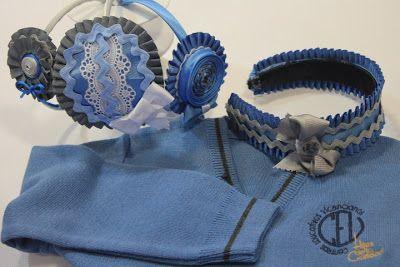 felpas hechas a juego con los uniformes escolares diademas pinterest