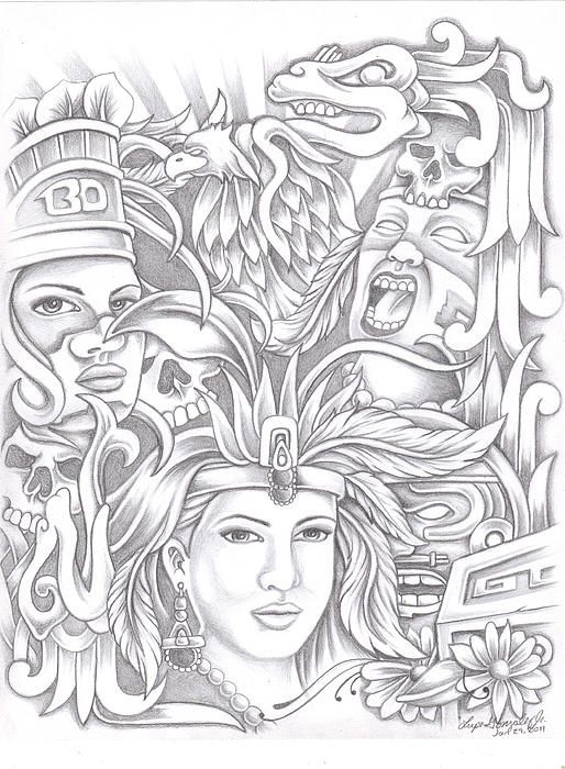 Best 25+ Aztec drawing ideas on Pinterest | Henna drawings ...