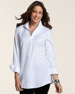 1000 images about the perfect white shirt search on for Chicos no iron shirts