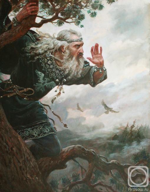 Шишкин Андрей. Позвизд Посвист, Похвист, Позвизд - в славянской мифологии - старший ветер, считается богом бури. Сын или внук Стрибога. Бог северного ветра.