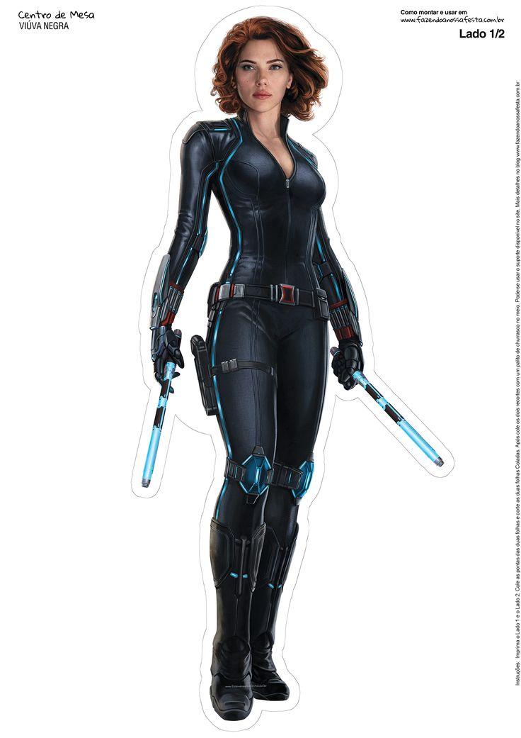 Centro de Mesa Vingadores Viúva Negra-1-1-2