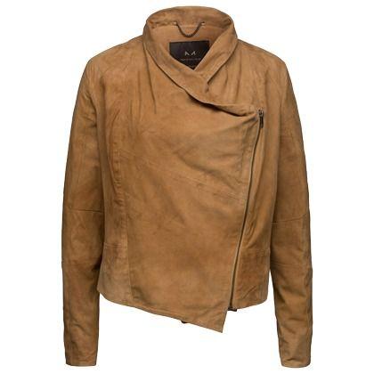 Jacke aus Veloursleder - Taillierte braune Jacke von Modström. Die locker fallende Jacke begeistert mit Velourleder und coolem Design. - ab 239,00€