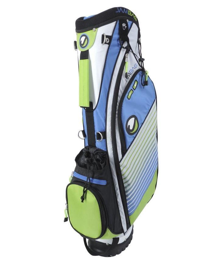 Featuring four compartments and a graphite safe top these mens 2015 Ojam vibe golf stand bags offer one device pocket with compartments for speaker, your cell phone and a connection cable