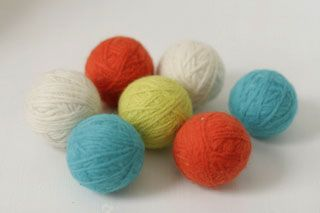 Wool Dryer Balls: Dip, Article, Pretty Colors, Homemade Wool
