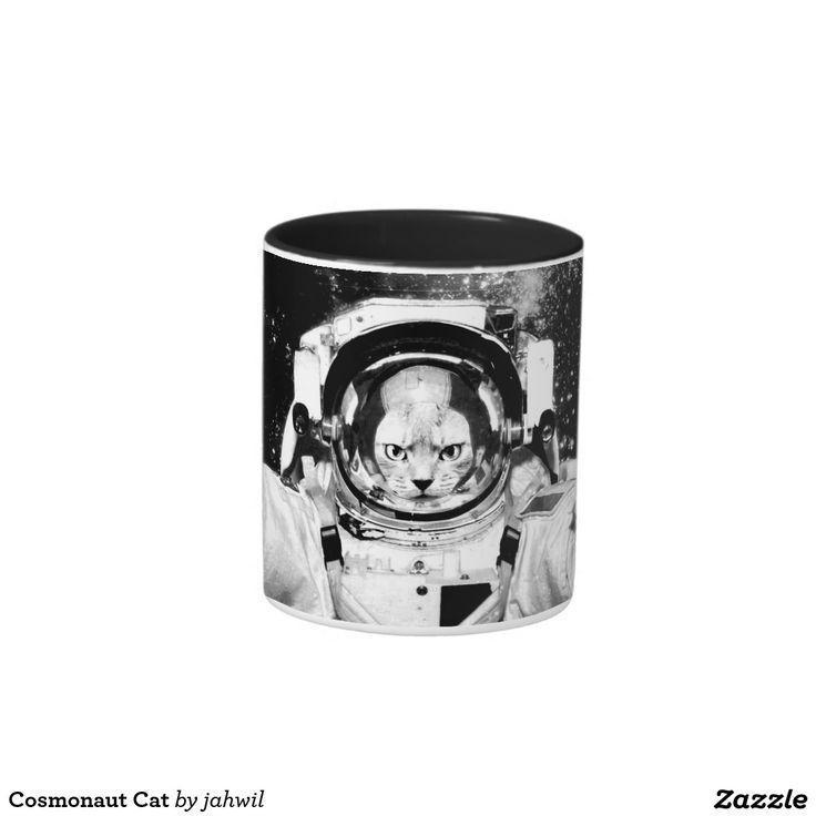 #lolcat #cosmonautcat #astronautcat #funnycat #mug Cosmonaut Cat Two-Tone Coffee Mug