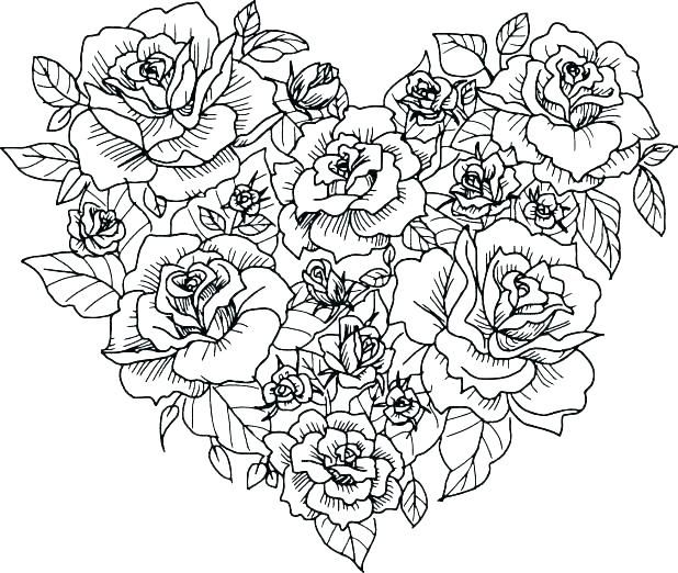 Roses And Hearts Coloring Pages Best Coloring Pages For Kids Heart Coloring Pages Valentine Coloring Pages Rose Coloring Pages