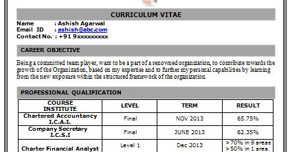 Latest Resume Format Download
