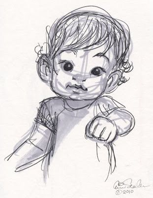 find this pin and more on illustrations and sketches of children - Sketches Of Kids