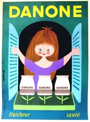 Danone Yoghurt (Little Girl) Gauthier Alain - letitiamorris.com