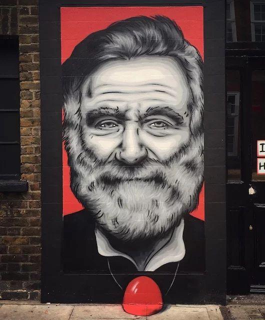 """Zabou - """"Robin Williams"""" in London, UK"""