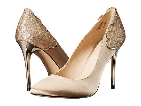 Pantofi de ocazie aurii Nine West cu toc inalt