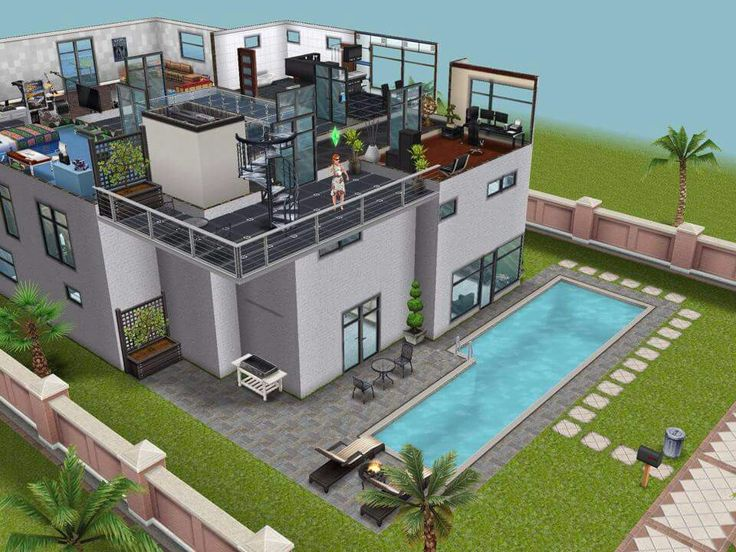 Modern beach house the sims freeplay house designs for Home architecture facebook