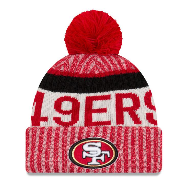 San Francisco 49ers New Era Youth 2017 Sideline Official Sport Knit Hat - Scarlet