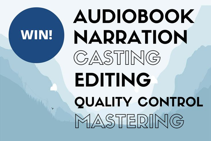 Win – Turn Your Book into an Audiobook (we'll cover the costs)