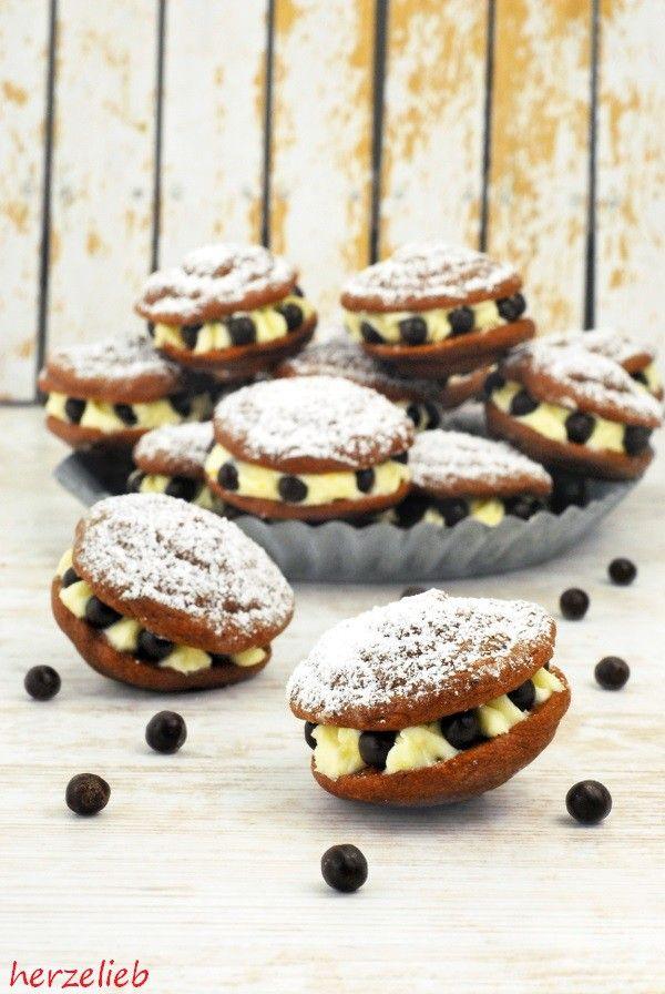 Rezept Schoko Whoopie Pies mit Zitronen-Creme Füllung herzelieb