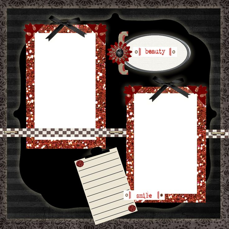 Free printable scrapbook layouts black red and white - Scrapbook background free printables ...