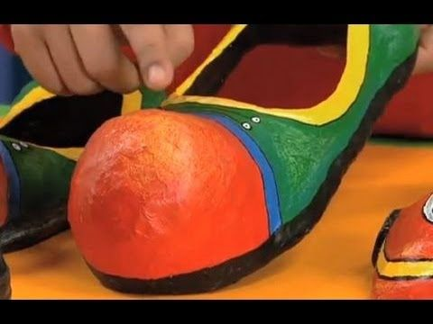 Art Attack - How To Make SHOES With Paper And Plastic!! - Disney India