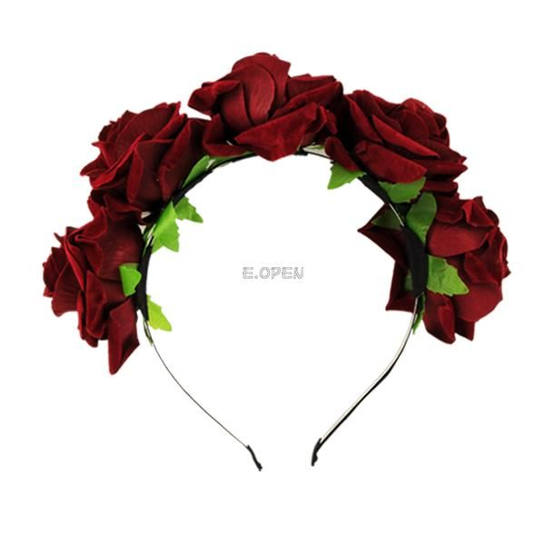 WOMEN-FLORAL-FLOWER-HEADBAND-HEADDRESS-CROWN-HAIR-BAND-WREATH-WEDDING-DECORATION