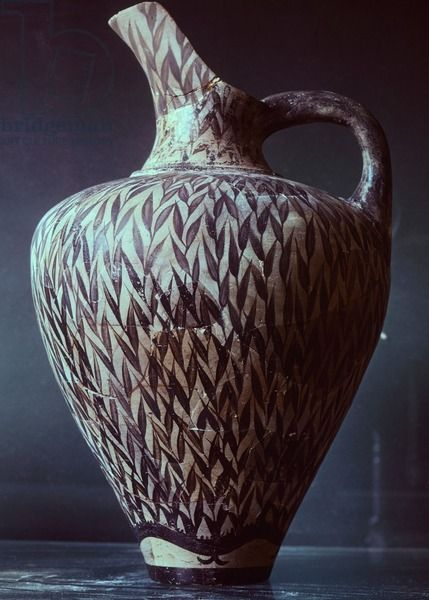 Pottery vase from Phaistos, Crete (Greece), Minoan ...