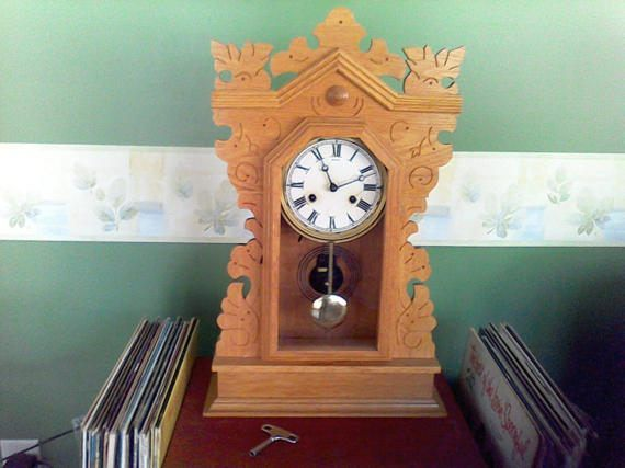 Antique Mantle Clock Hand Made in 1966USA working  just