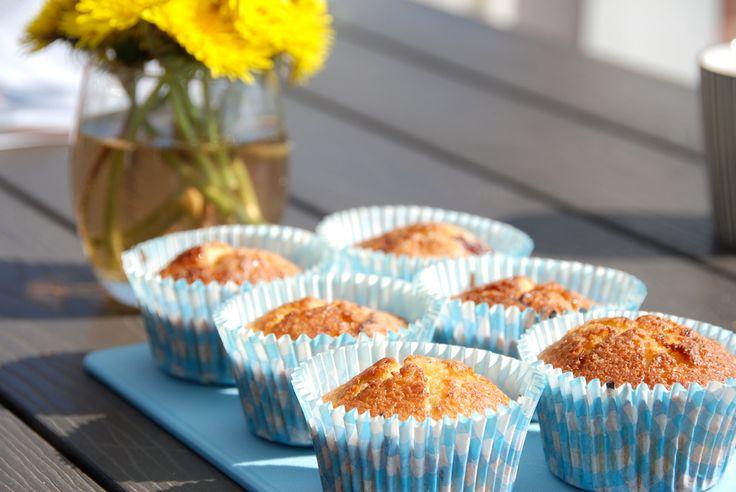 Muffins med rabarber - de bedste rabarbermuffins