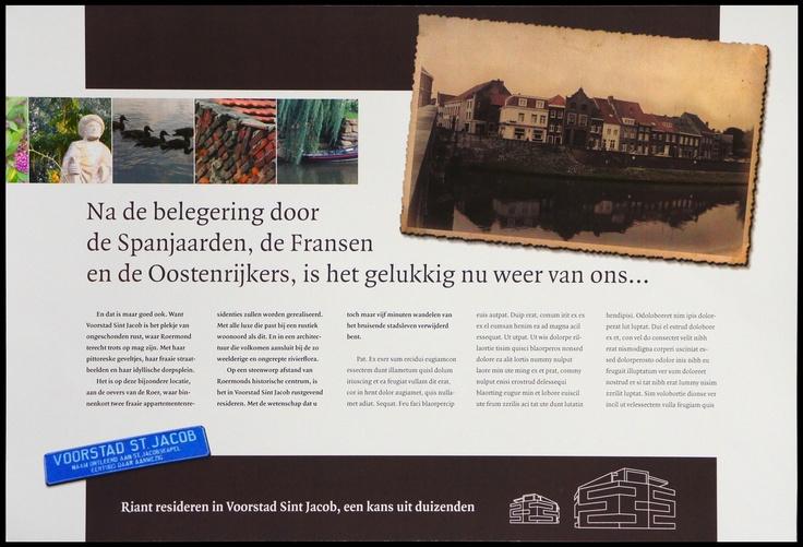 """Client: 3HoogDesign (art). Account: Aannemer van nieuw prestigieus wooncomplex in 't romantische """"Voorstad Sint Jacob"""" (Roemond) - Pitch. (cp+cy) ad. 2/5 """"Belegering"""""""