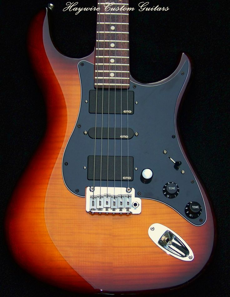 haywire custom shop strat sunburst carved top quilted maple body custom build pick guard add. Black Bedroom Furniture Sets. Home Design Ideas