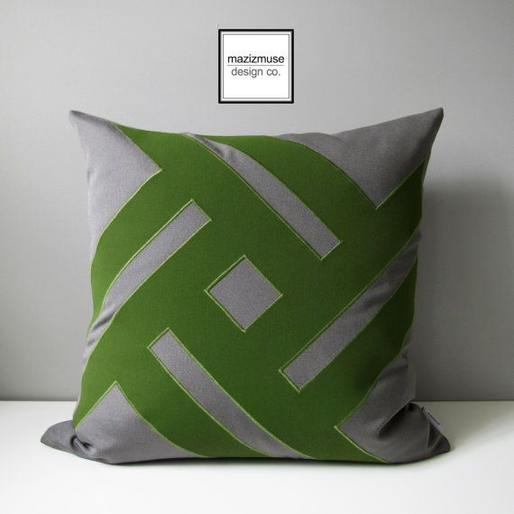 Modern Green Pillow : 17 Best images about Green - Modern Pillows by Mazizmuse Design Co on Pinterest White pillow ...