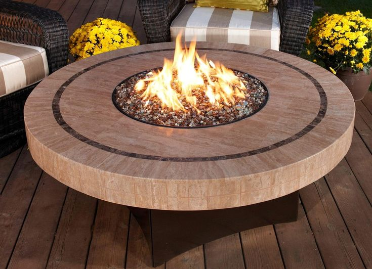 round lifted fire pit