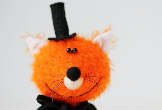 Mr Fox  Mr X   OOAK Miniature collectible by MiniatureTeddyBears
