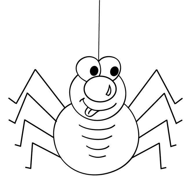 cute animal spider cartoon coloring page - Cartoon Images To Colour
