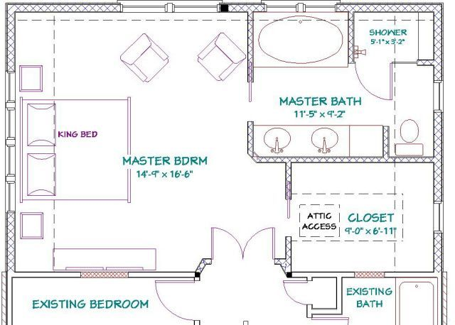 Master Bedroom Addition Floor Plans With Fireplace Free