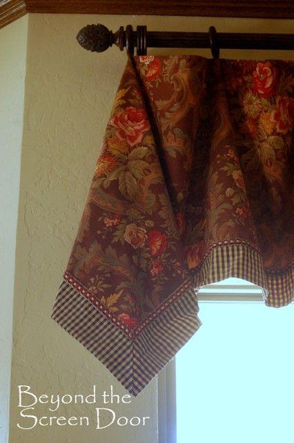 3 Easy-To-Make Handkerchief Style Valances plus tutorial | Beyond the Screen Door