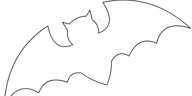 Cute Bat Outline