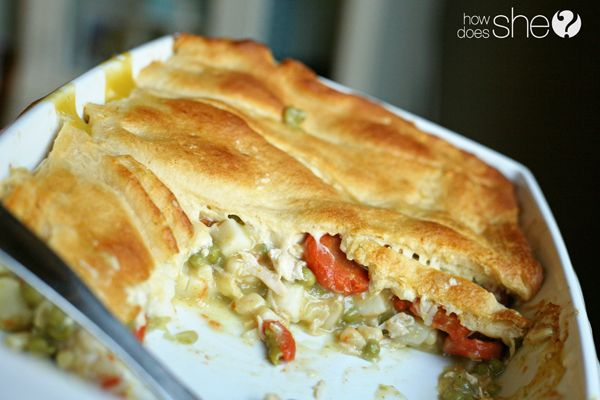 Easy Peasy Chicken Pot Pie Casserole *Introducing the Easy Peasy Cooking Series – 10 Minutes or less!