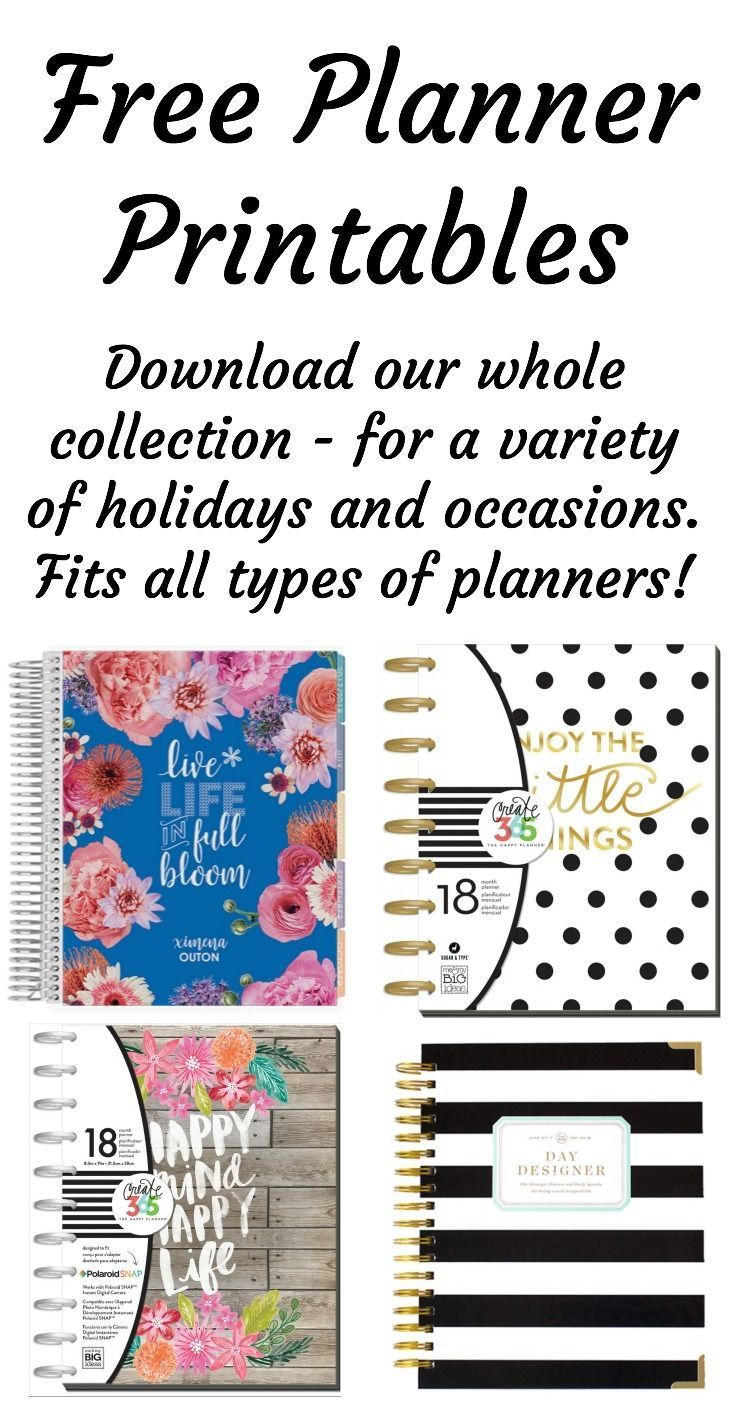 Here's the whole collection of free planner printables currently available on DIY Candy. All of them are at no cost to you for personal use, so please have fun with them!