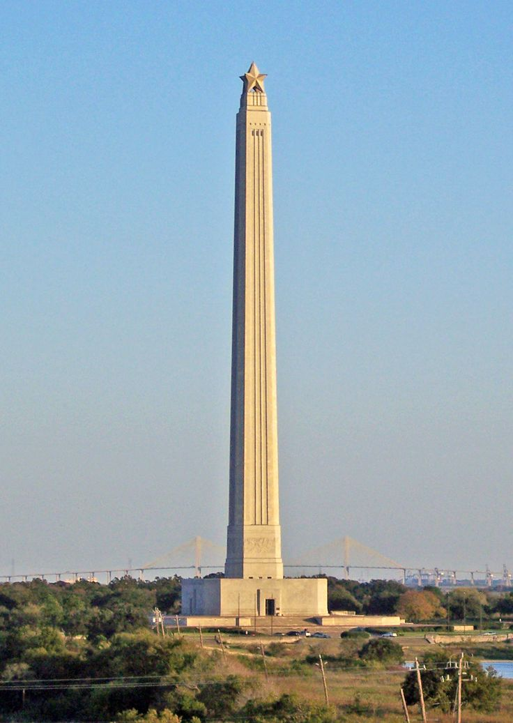 The San Jacinto Monument is the tallest free standing monument in the world and it is taller than the Washington Monument.