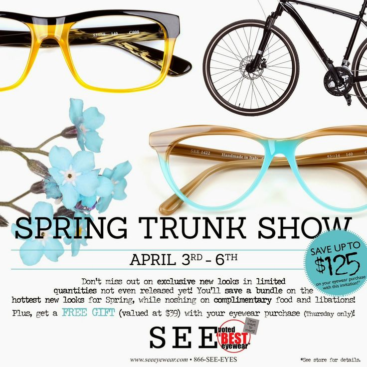 49 best images about eyewear trunk shows on