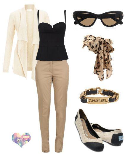 Y. A. Q.: [Y ahora qué me pongo con] Pantalones beige