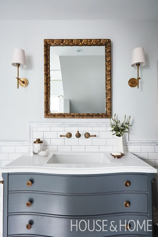 In This Bathroom, A Converted Chest Of Drawers Functions As A Vanity. |  Photographer