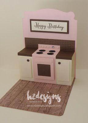 H2 Designs: Pop Up Kitchen card