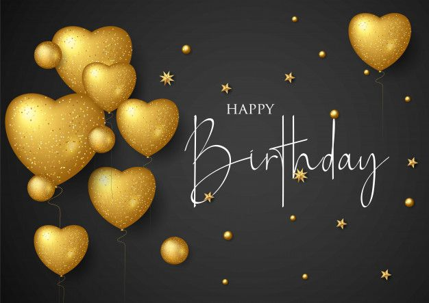 Birthday Elegant Greeting Card With Gold Balloons And Falling Confetti Happy Birthday Wallpaper Happy Birthday Png Birthday Wallpaper