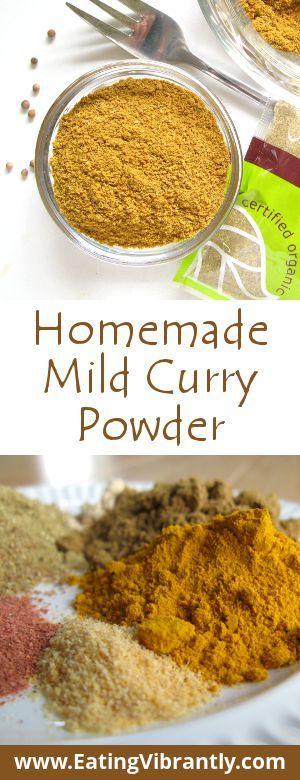 Homemade Mild Curry Powder recipe - Quick, easy, natural, delicious and gentle on your tastebuds @ Eating Vibrantly