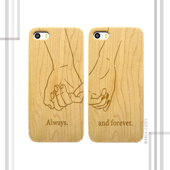 Pinky Promise Couples Phone Case Set  Always and by ArlaLaserWorks