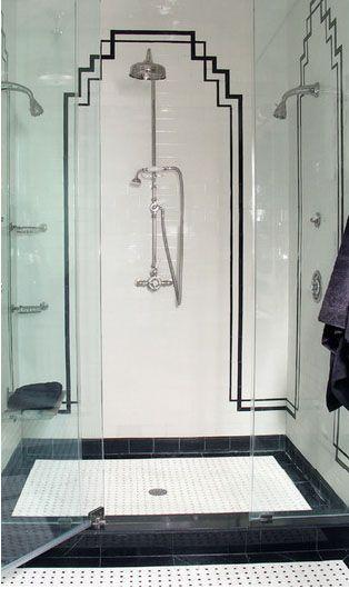 1000 images about inspirations on pinterest art deco for Art deco tile designs bathroom